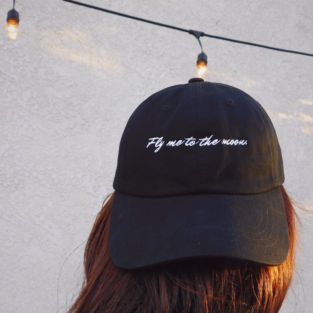 fcf9834d7e5b1 This fly me to the moon dad hat is now available! Dare I say this may be my  favorite hat yet! 🌙✨