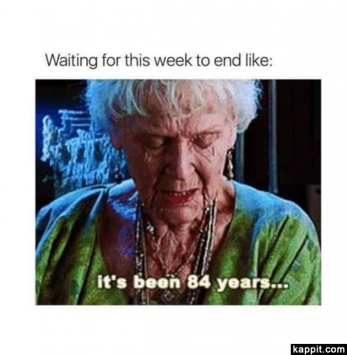 Waiting For This Week To End Like It S Been 84 Years Its Been 84 Years Retail Humor Server Humor