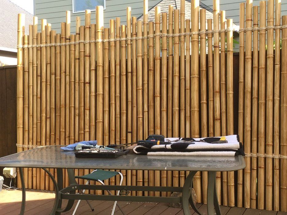 Pvc Faux Bamboo Privacy Wall With Leds Bamboo Privacy Fence Design Bamboo Privacy Wall