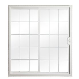 ReliaBilt 332 Series 70.75 In Grilles Between The Glass Vinyl Sliding Patio  Door With Screen