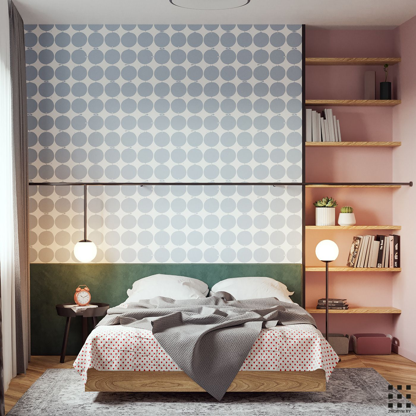 Bedroom In Contemporary Style On Behance: Apartment Design, Contemporary