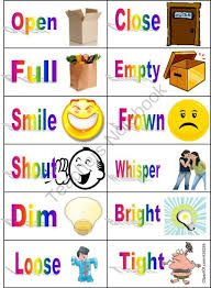 Language In The Classroom Synonyms And Antonyms Flashcards Traveling Teacher Antonym
