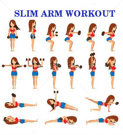 slim arm workout workout health exercise fitness