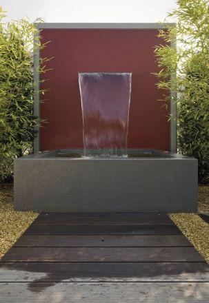 Wasserfall-Brunnen FONTES Pinterest Backyard and Gardens - wasserwand selber bauen garten