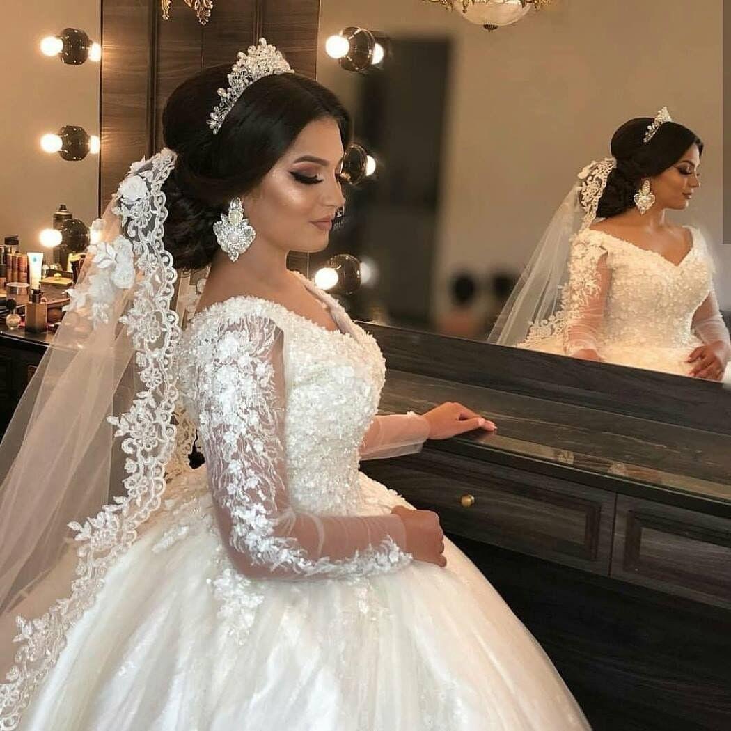Pin By Gabriela Villa On Wedding Sheer Wedding Dress Sparkly Wedding Dress Dream Wedding Dresses [ 1050 x 1050 Pixel ]