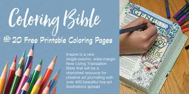 The Inspire Bible Tyndalehouse Publishing is the first coloring - new christian coloring pages.com