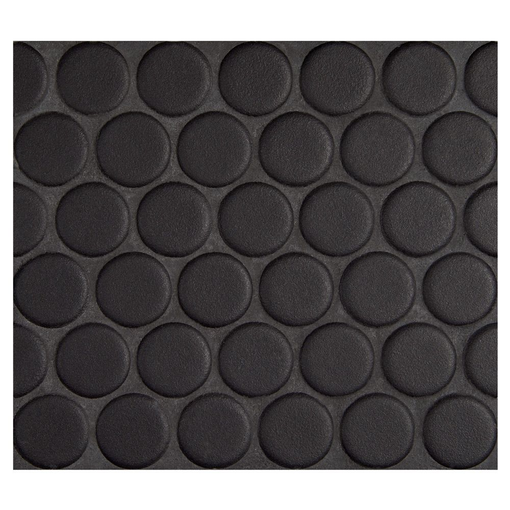 Complete Tile Collection Penny Round Mosaic Midnight Black Matte 1 Round Glazed Porcelain Penny Mosaic Penny Tile Penny Round Mosaic Penny Tiles Bathroom