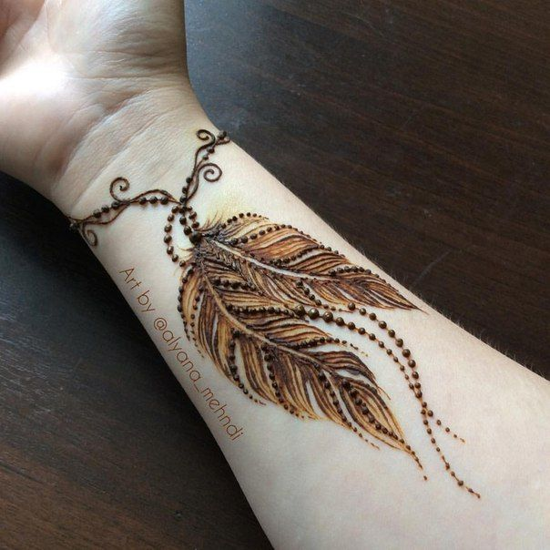 19 Beautiful Feather Henna Designs You Will Love To Try: Алина Счастье