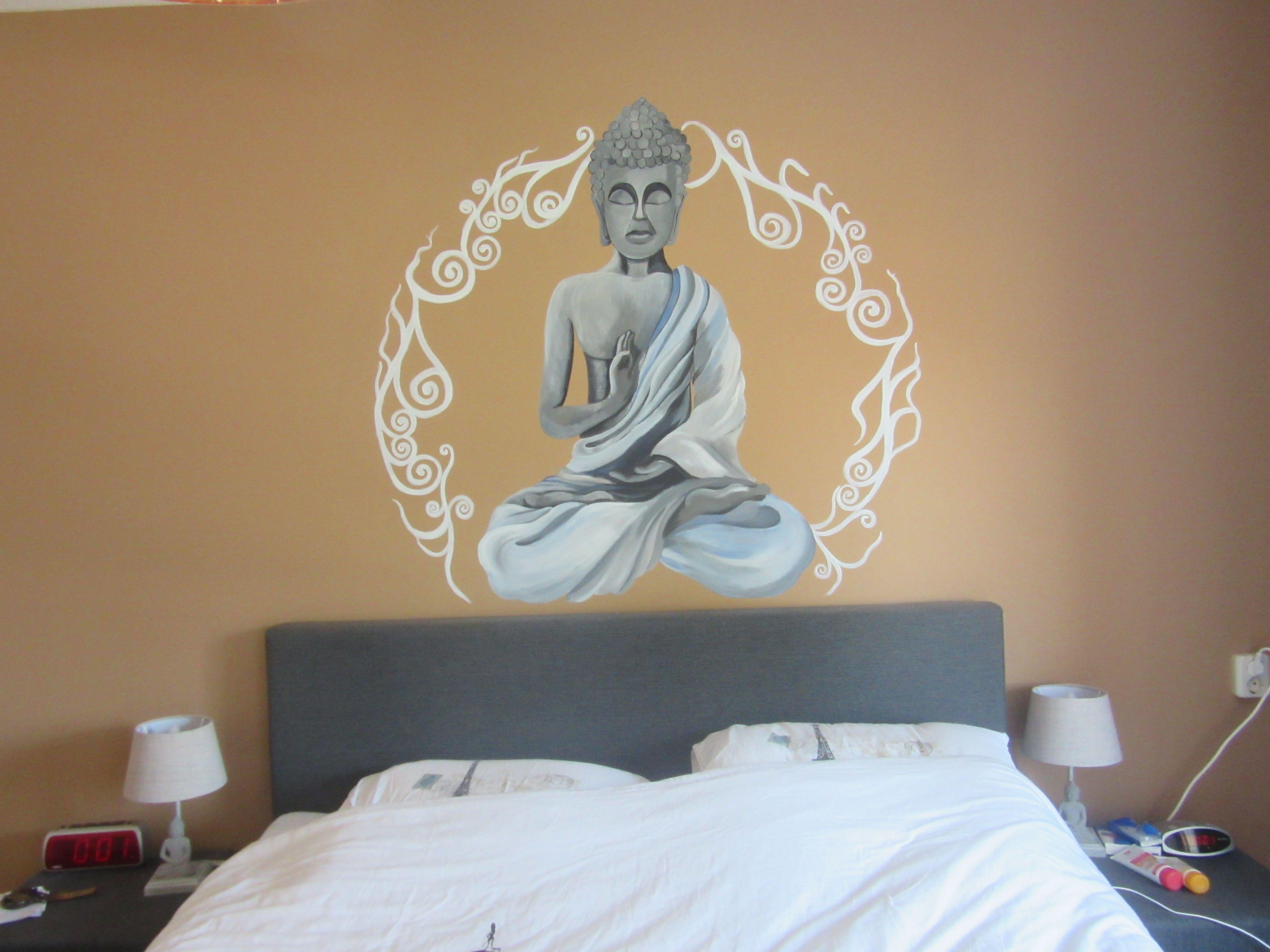 mural acrylic buddha bedroom religion decoration adult wall art ...