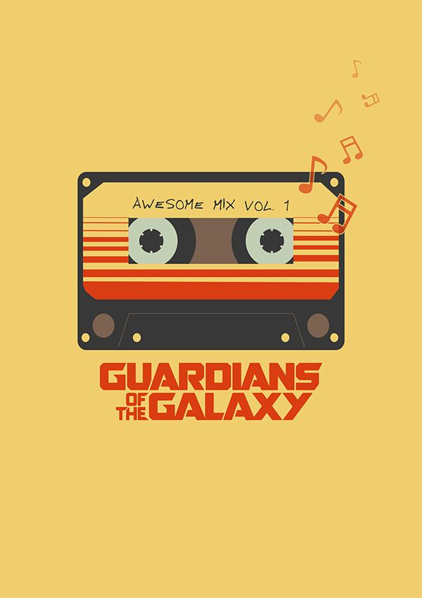 Awesome mix vol.1 poster on Behance  6b966a94b85