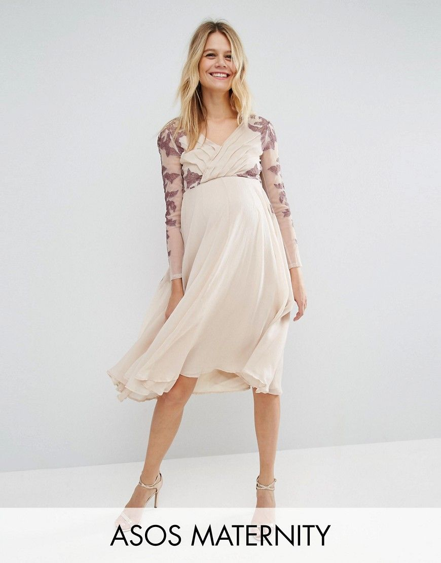 Get this asos maternitys midi dress now click for more details get this asos maternitys midi dress now click for more details worldwide shipping asos maternity pleated lace placement midi dress multi maternity ombrellifo Gallery