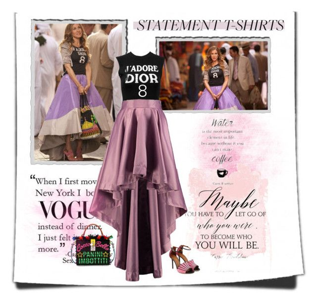 """""""Sunday Watching Carrie Bradshaw"""" by sherry7411 ❤ liked on Polyvore featuring Christian Dior, Boohoo, Dolce&Gabbana, Malone Souliers, carriebradshaw, sexandthecity and polyvorecontest"""