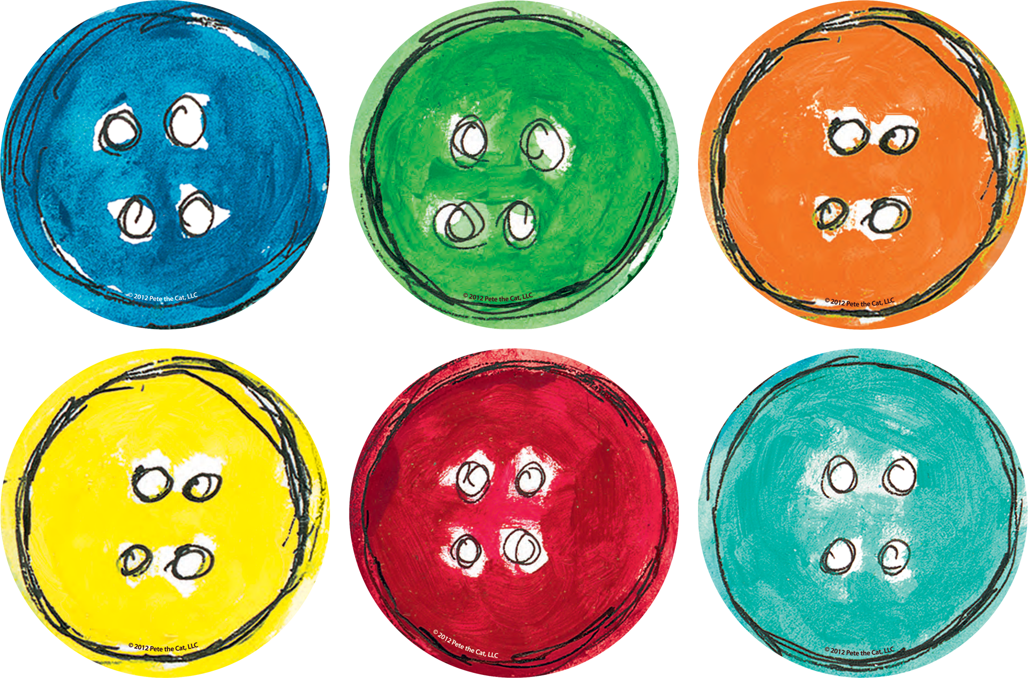 Spot On Pete The Cat Groovy Buttons Carpet Markers In