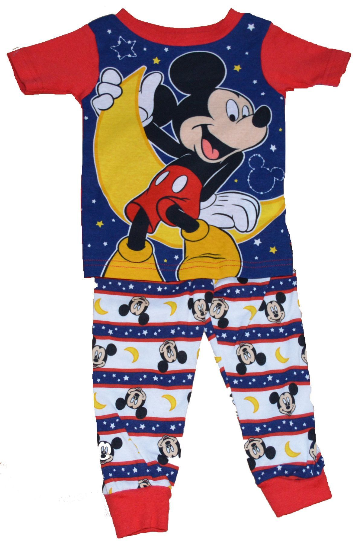 399c15766 Disney Mickey Mouse Star Moon Baby Toddler Boy Tight-fit 2 Piece ...