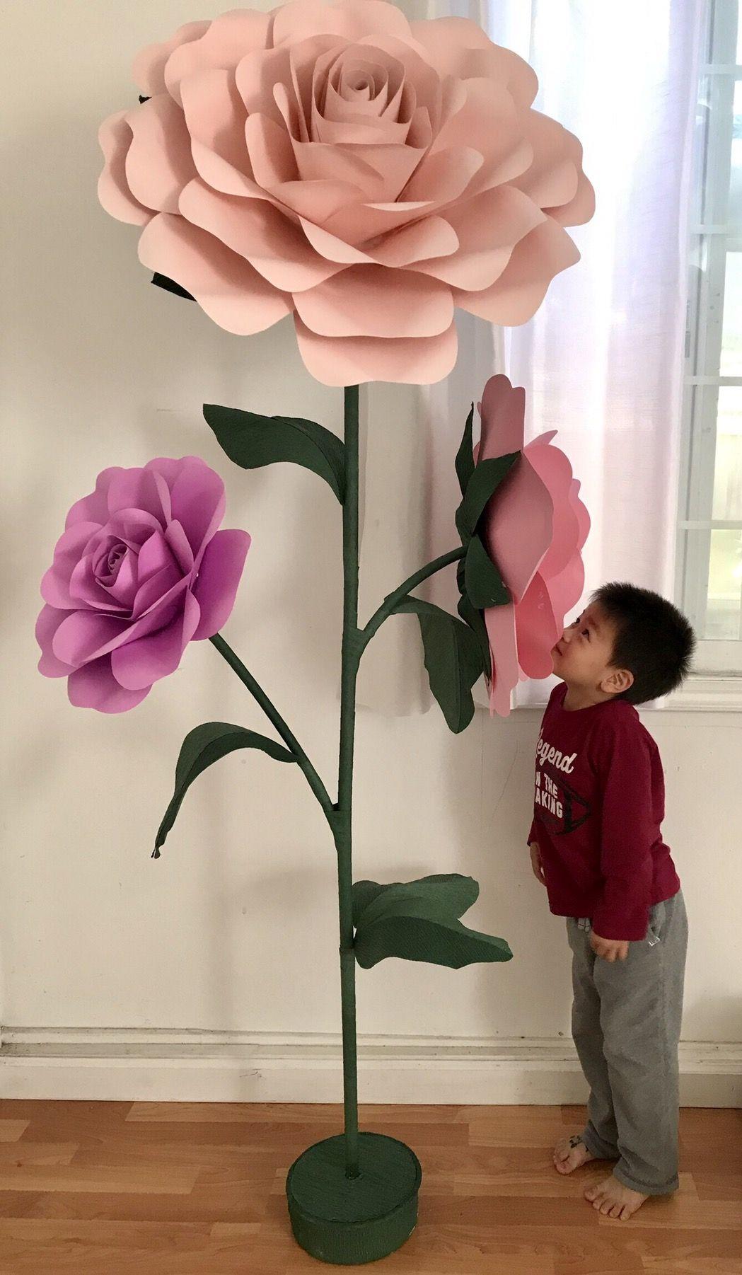 This Giant Paper Flowers Diy Stem Set Tutorials Includes Videos