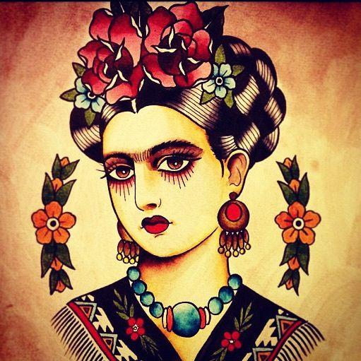 Frida tattoo art