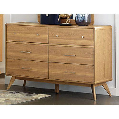 Light Ash Mid Century Modern Dresser Anika Wooden Dresser