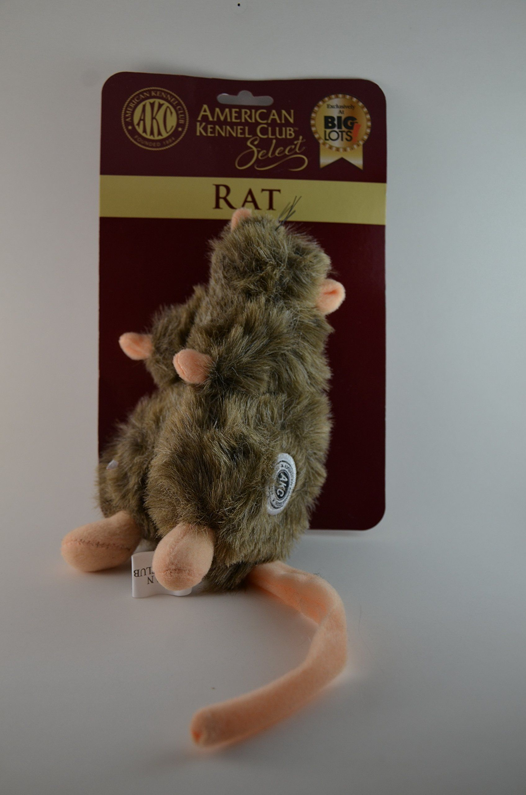 American Kennel Club Select Akc Plush Stuffed Rat With Squeaker
