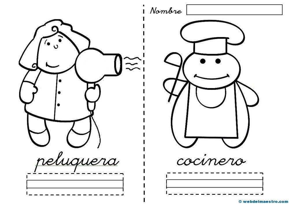 Dibujos De Medicos Para Colorear E Imprimir: Dibujos De Profesiones Para Colorear