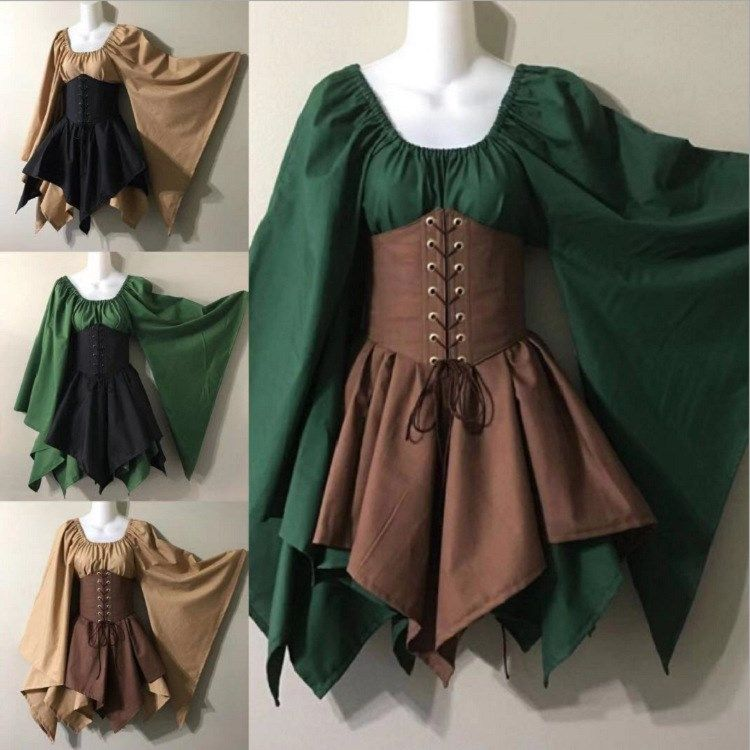 US $26.36 |Medieval Costume 2 Piece Set Woodland W
