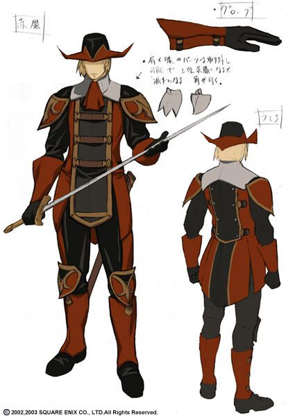 Red Mage concept art (FFXI) | Costuming Inspiration in 2019