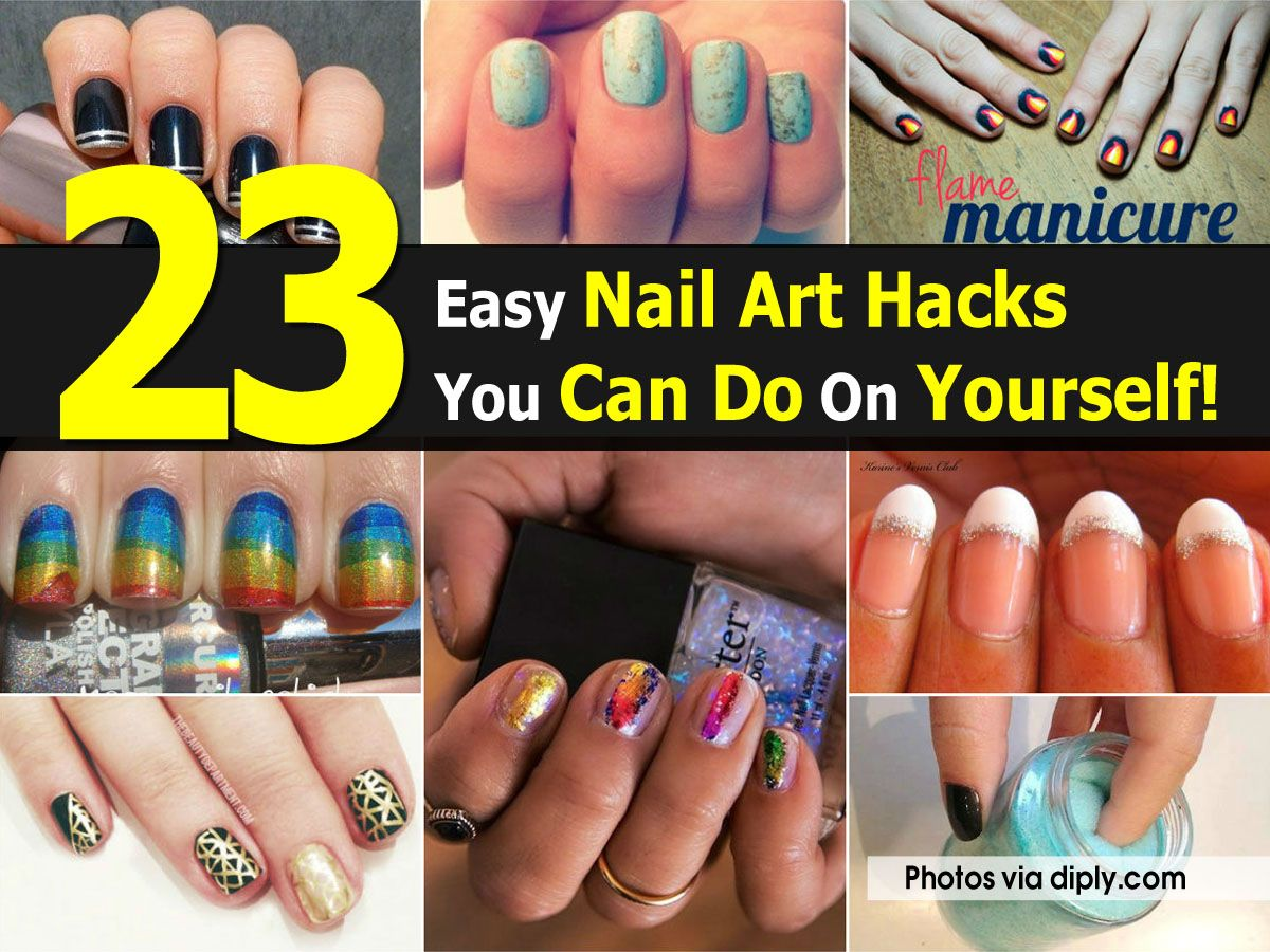 23 easy nail art hacks you can do on yourself fashion pinterest 23 easy nail art hacks you can do on yourself solutioingenieria Choice Image
