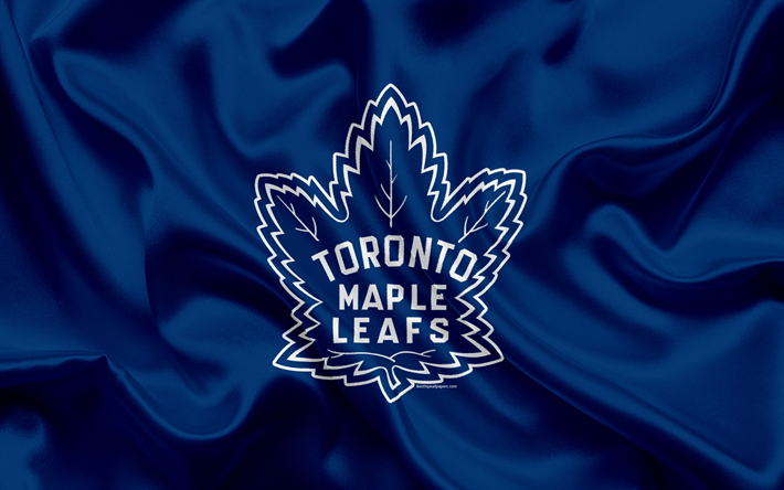 Download wallpapers Toronto Maple Leafs, hockey club, NHL, emblem, logo, National Hockey League, hockey, Toronto, Ontario, Canada, Eastern Conference, Atlantic Division