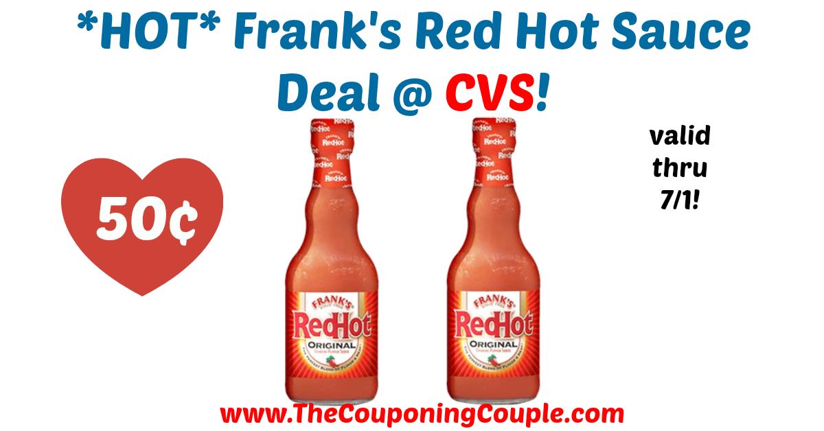 Hot Frank S Red Hot Sauce Deal Cvs Franks Red Hot Hot Sauce Hot