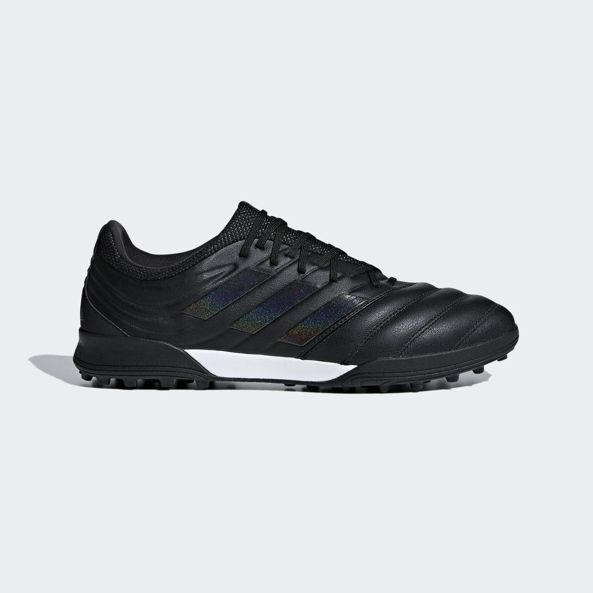 Détails sur shoes Puma Chaussures de football one 19.3 Noir Turf Trainers Cuir véritable
