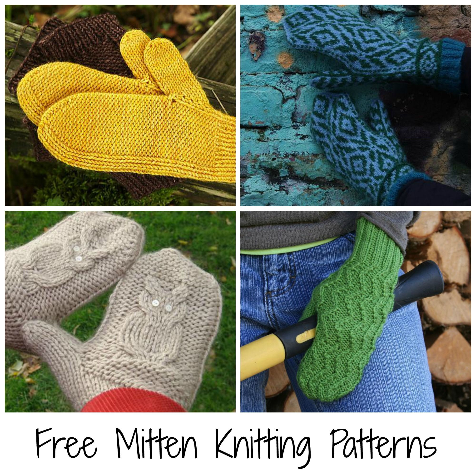 10 FREE Mitten Patterns to Knit | Mittens pattern, Mittens and Knit ...