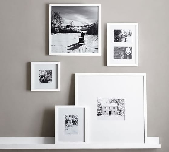 wood gallery single opening frames white pottery barn - White Picture Frames