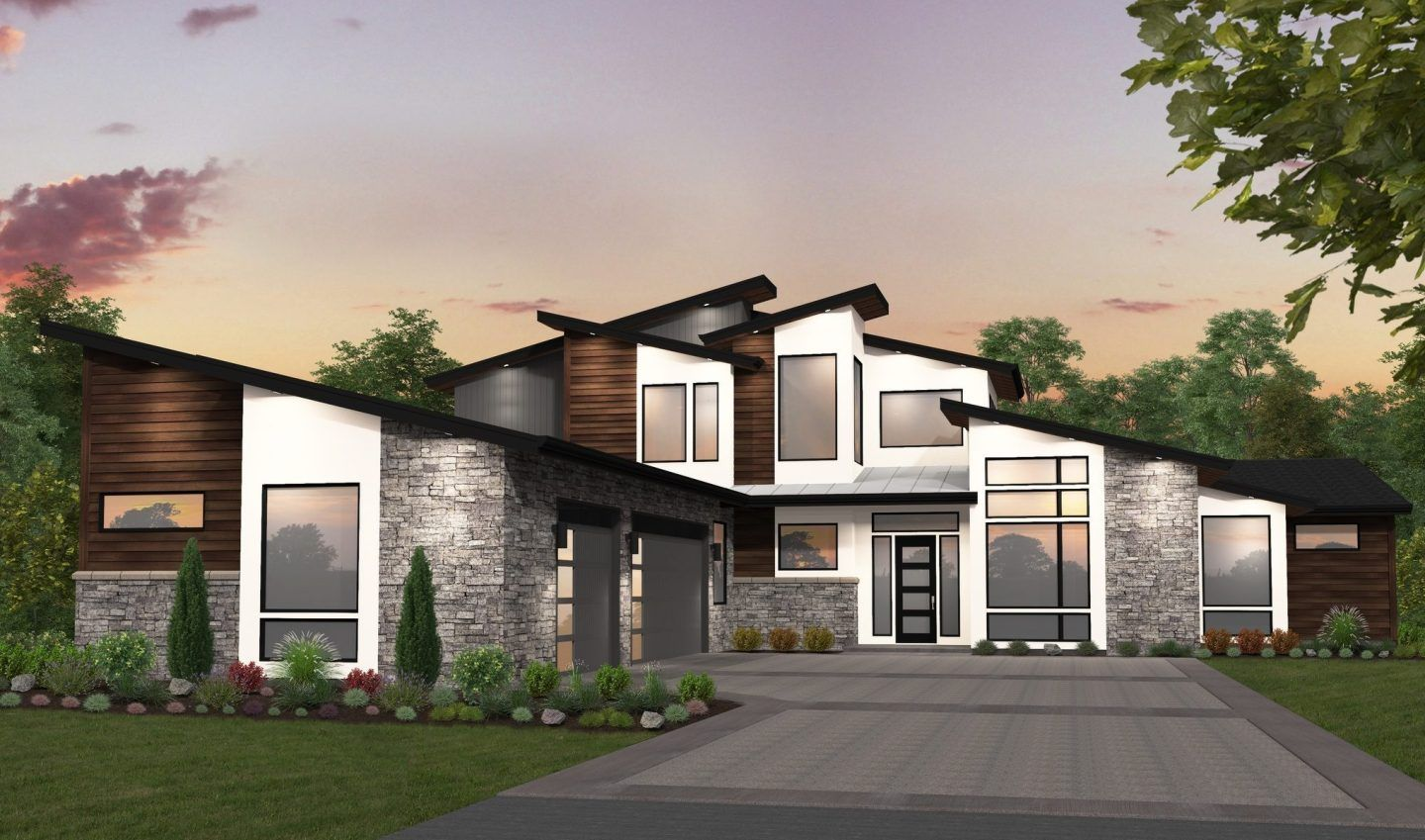 Madrid Large L Shaped Modern House Plan By Mark Stewart Contemporary House Plans Modern House Plan Big Modern Houses