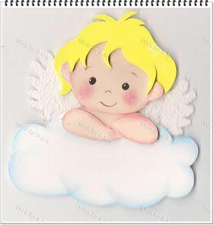 Angelito Goma Eva Figuras Molde De Anjo Anjo De Eva E