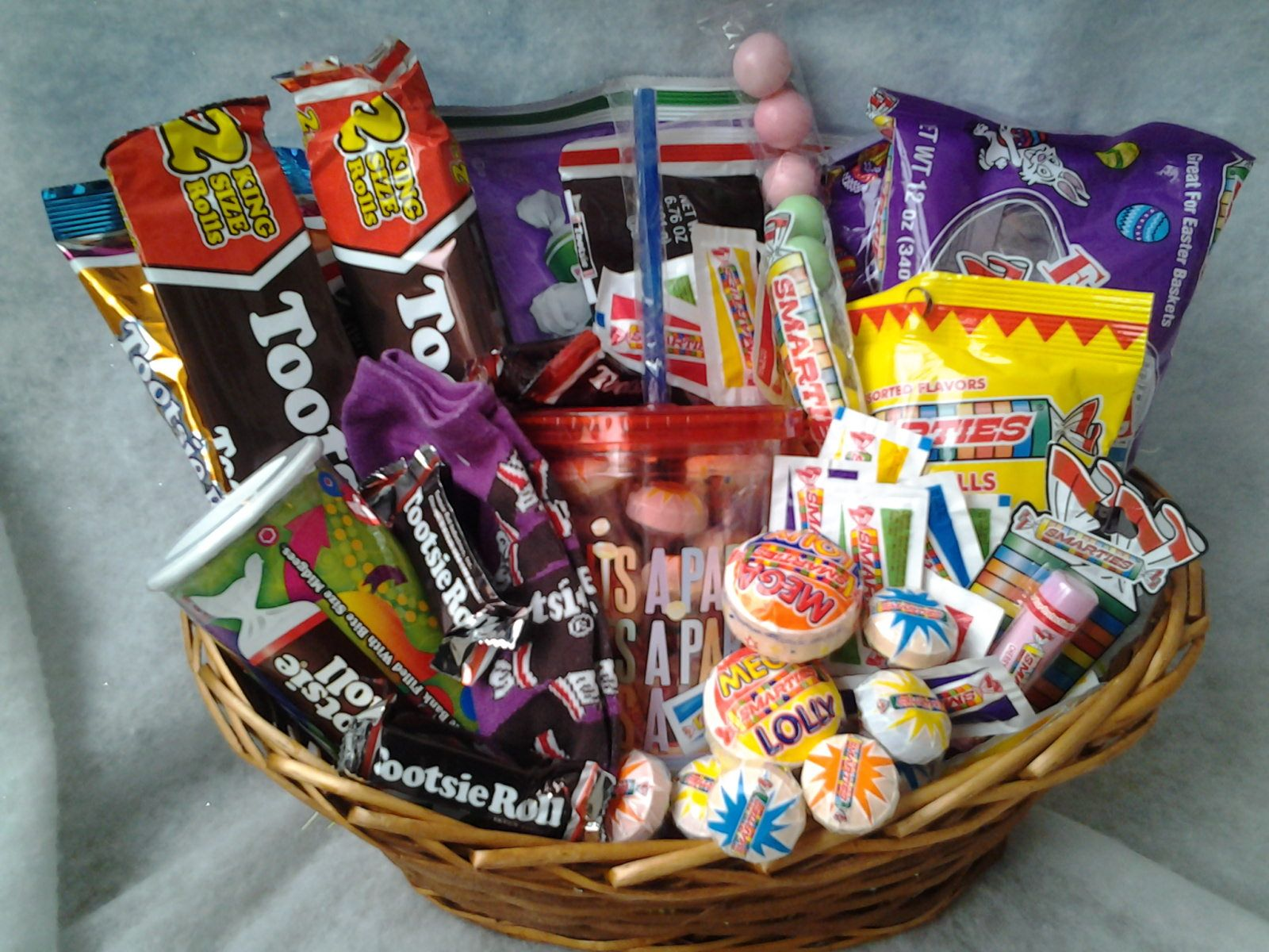 One made to order tootsie rollsmarties gift basket the perfect one made to order tootsie rollsmarties gift basket the perfect unique gift idea negle Choice Image