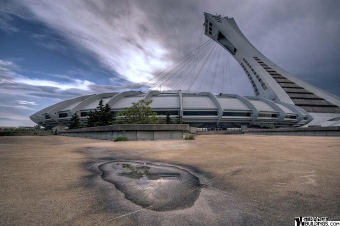 Felicity S Spaceship Aka Olympic Stadium In Montreal Olympic Stadium Montreal Unusual Buildings Montreal