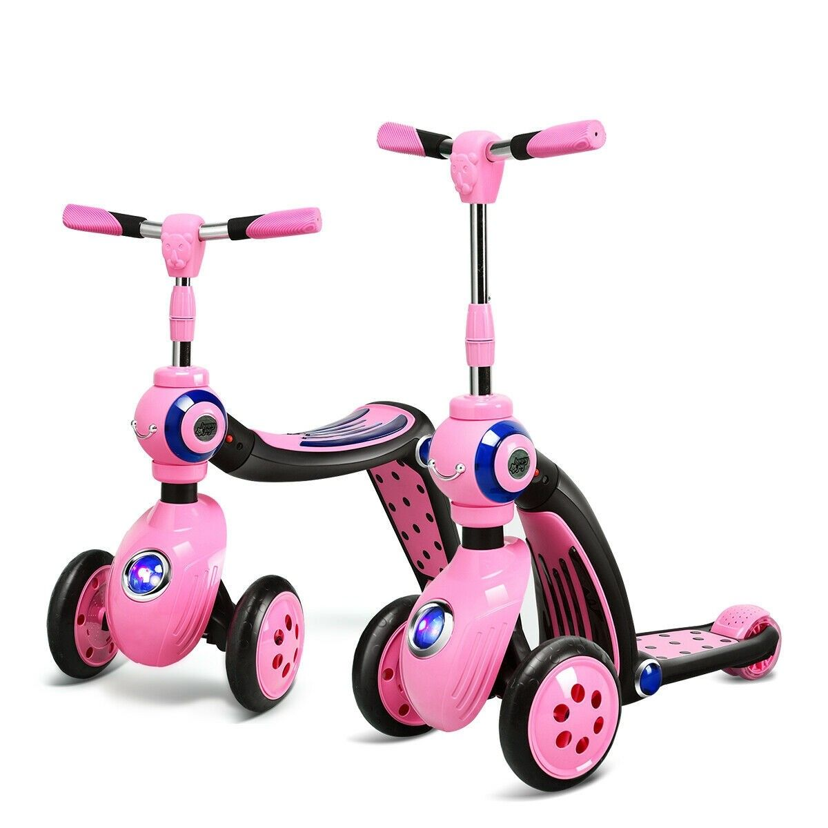 2 In 1 Kick Scooter Balance Trike With 3 Wheel Kick Scooter