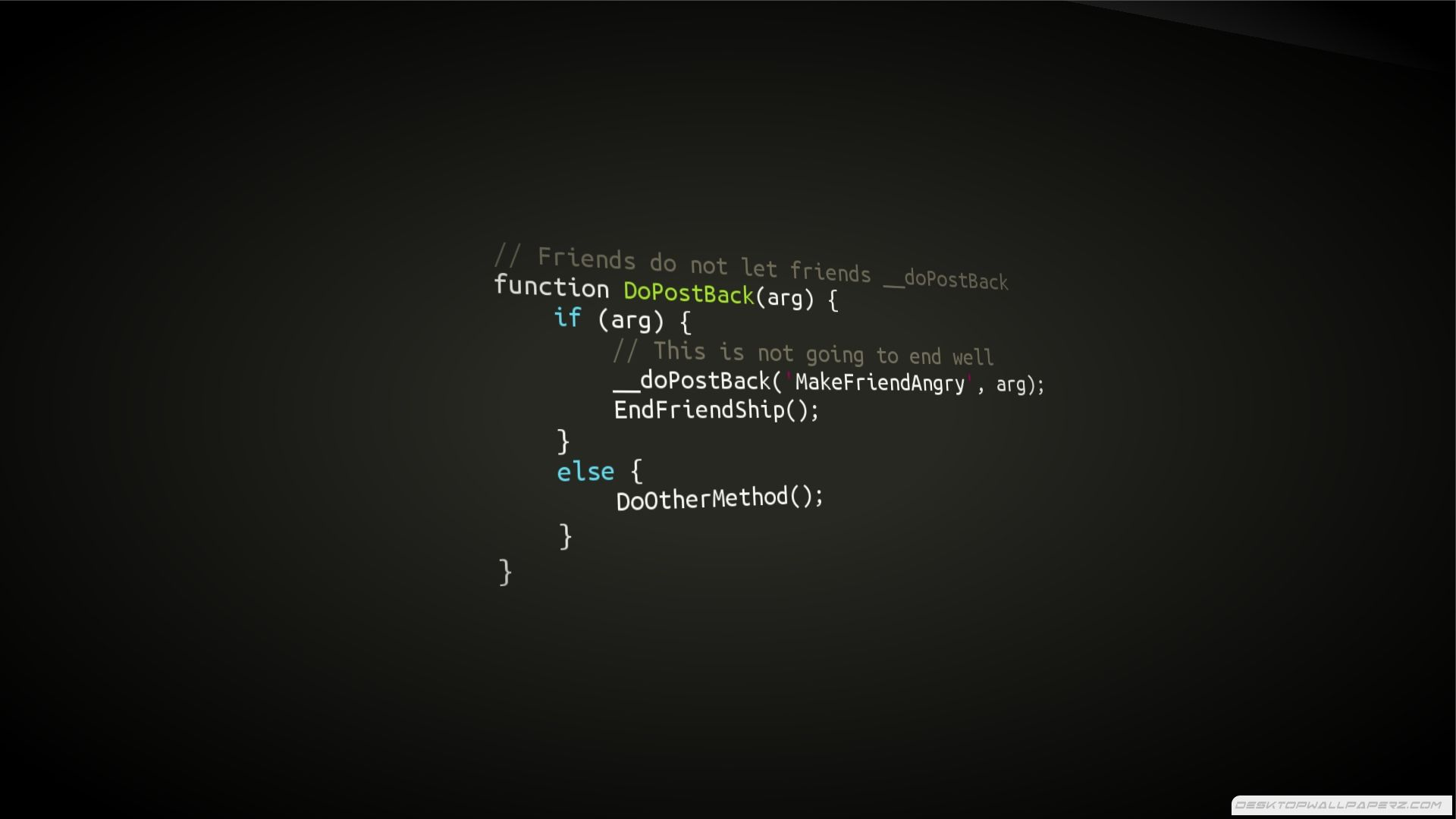 Programming Code Javascript Friendship 1920 1080 74072 Hd Wallpaper Code Wallpaper Programming Wallpaper Coding