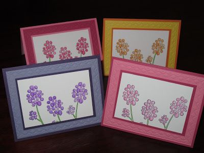 My Stamping Friends: Stampin' Up!'s Raining Flowers general greeting card