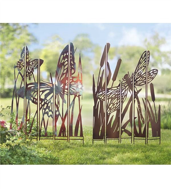 Superbe Main Image For Metal Garden Panel Stakes