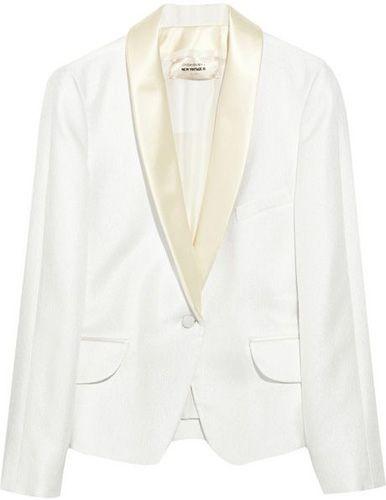 f912b508100 YSL Silk-Satin and Twill Tuxedo Jacket net-a-porter.com | Style ...