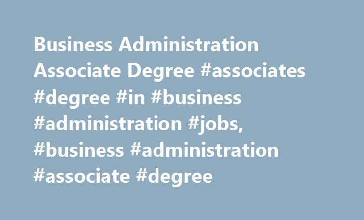 jobs with a business administration degree