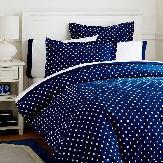 Dottie Duvet Cover Sham Royal Navy Duvet Cover Master Bedroom Luxury Bedding Sets Polka Dot Bedding