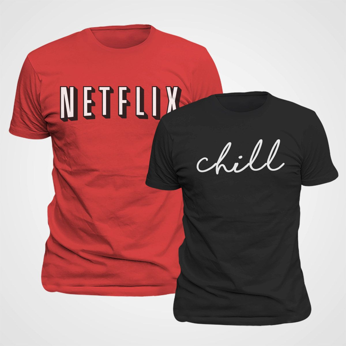 d0ac3b500 Netflix & Chill Couples Matching Shirt Valentine Costume funny t shirts