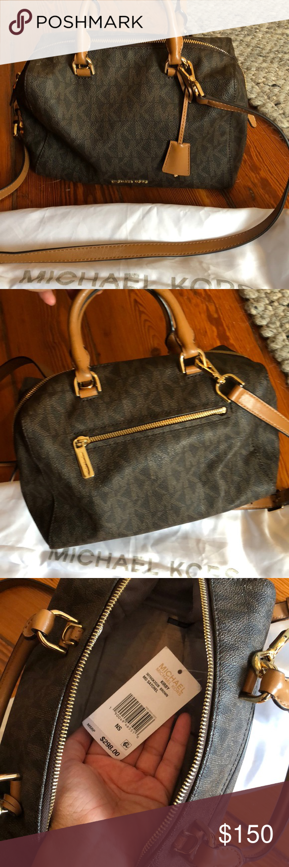 ef9a05292b MICHAEL KORS MONOGRAMMED SATCHEL! Only used a couple of times