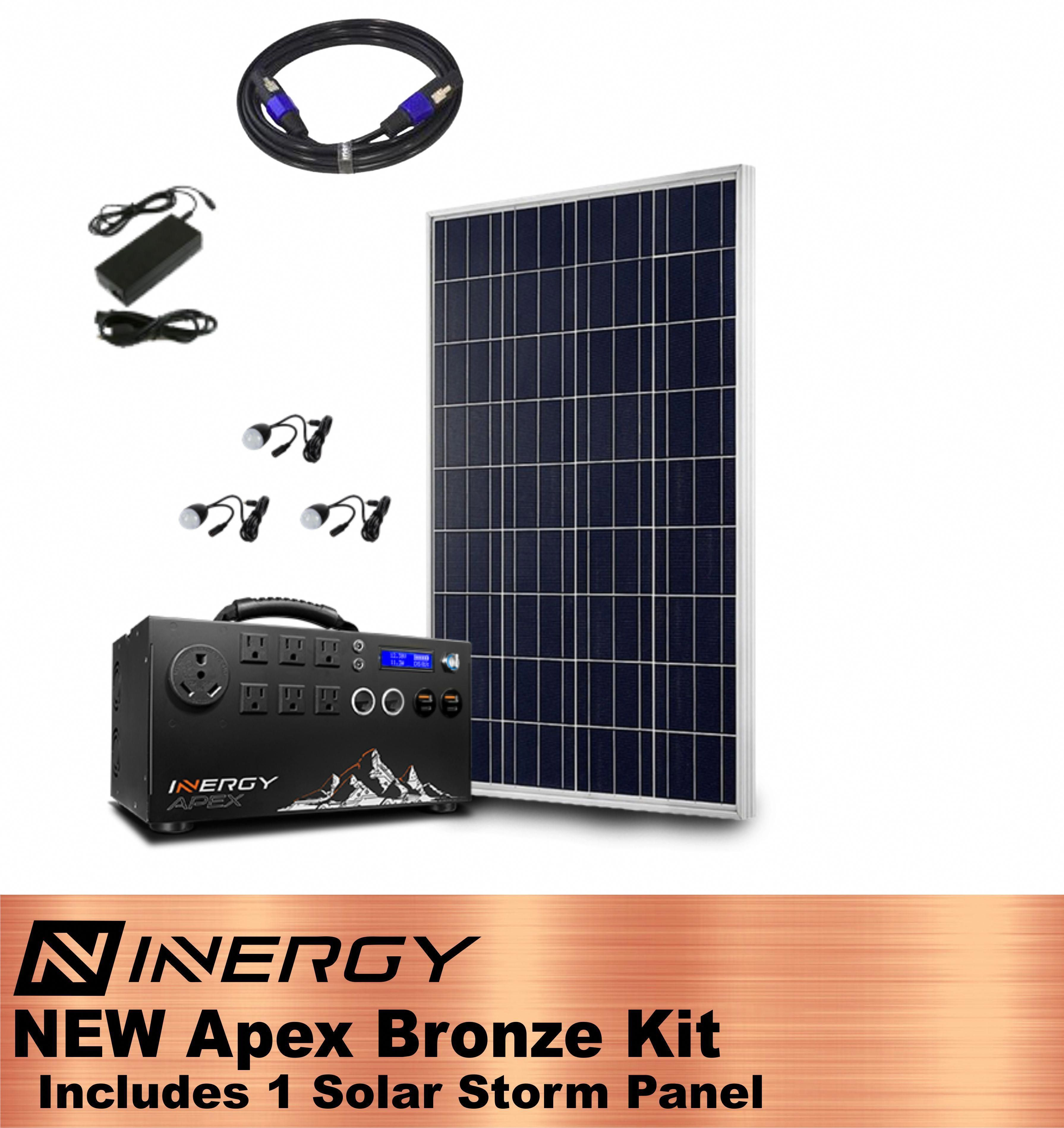 Inergy Apex Solar Generator Bronze Kit With 1 Solar Storm Panel Solar Generator Solar Panels Best Solar Panels