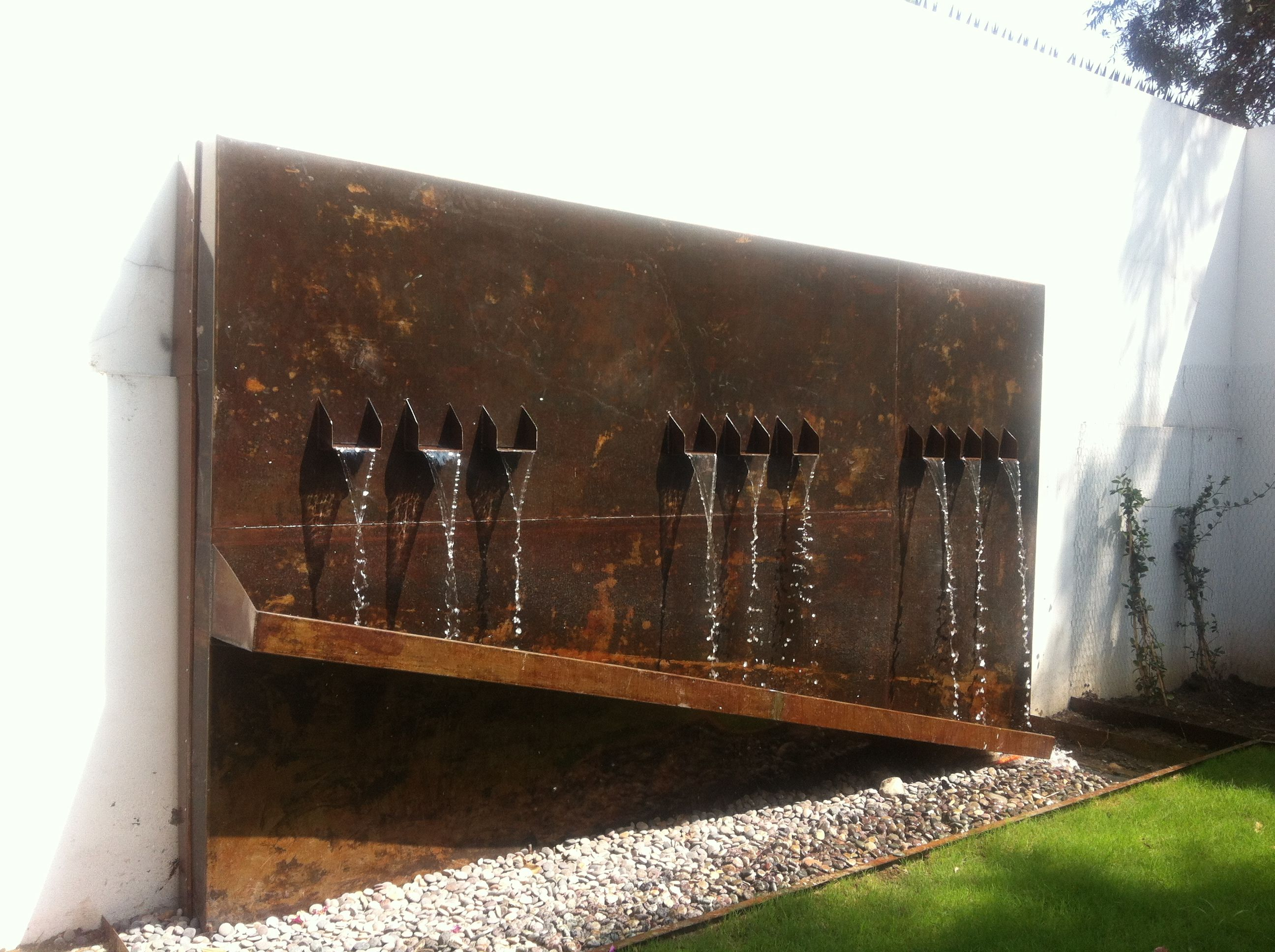 Corten Steel Fountain Design And Construction Residential