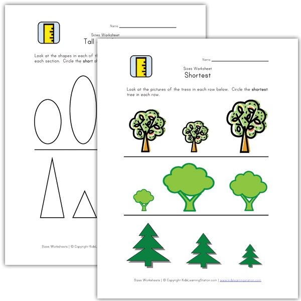 Kids Learn Height Tall And Short Worksheets With Images Kids