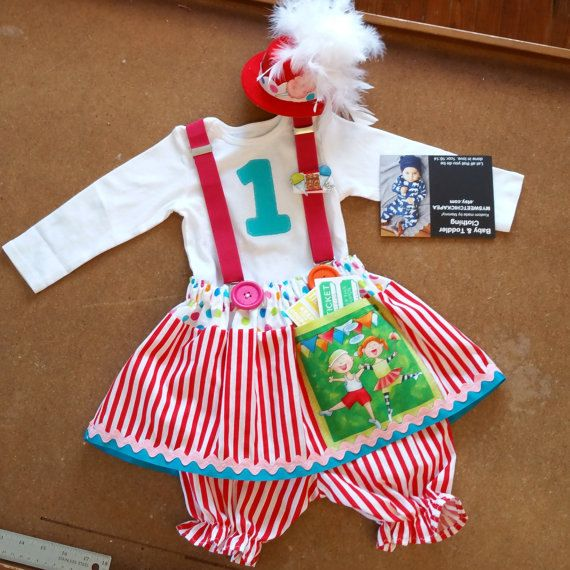 Girls Circus Dress Girls Clown Outfit Baby By Mysweetchickapea Clown Clothes Circus Outfits Baby Girl 1st Birthday