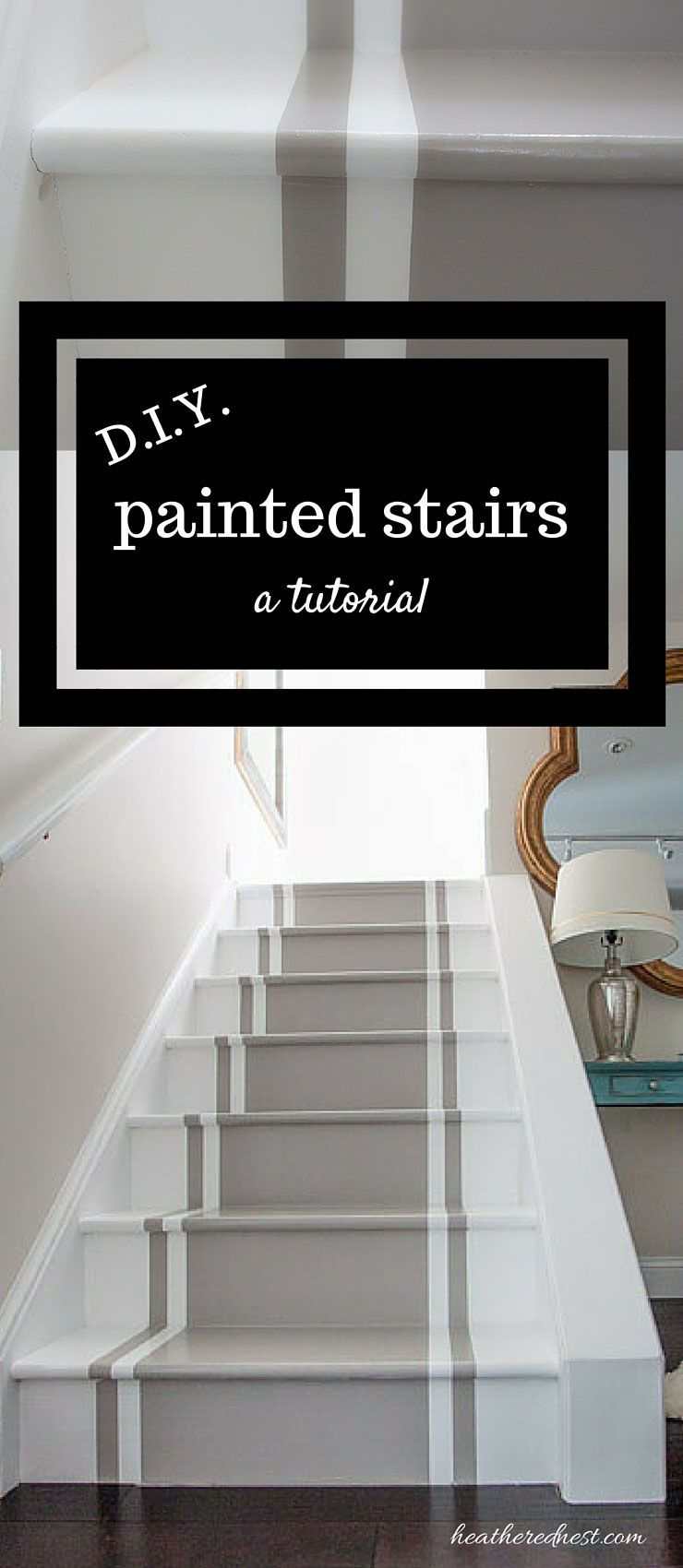 Incredible Stair Makeover With Paint So Much Er Than Stain Or New Stairs