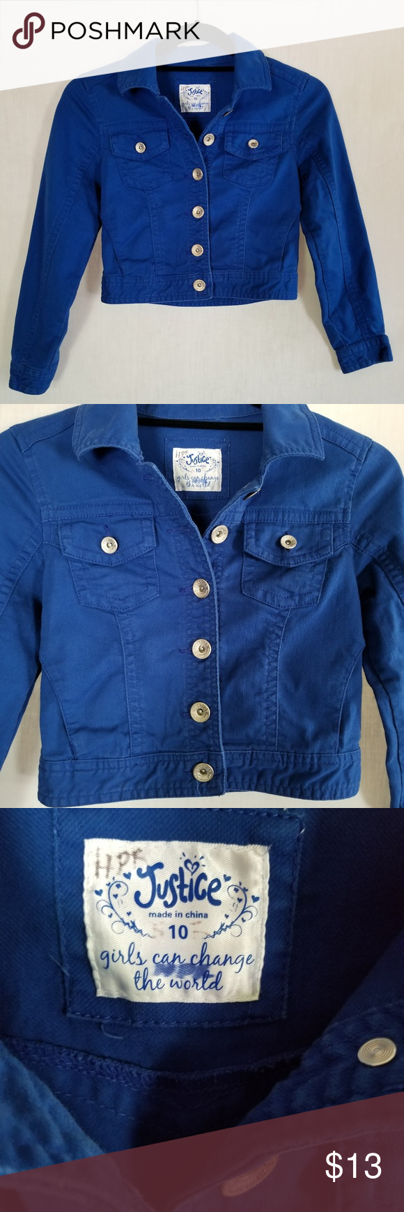 Girl S Justice Jean Jacket Royal Blue Size 10 Justice Girl S Jean Jacket Girl S Denim Jacket Girl S Size Girls Denim Jacket Jean Jacket For Girls Girls Jacket [ 1740 x 580 Pixel ]
